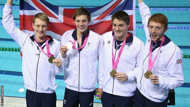 Duncan Scott, Miles Munro, Martyn Walton and Luke Greenbank