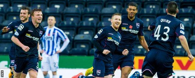 Michael Gardyne was composed as he slotted in County's second goal at Rugby Park