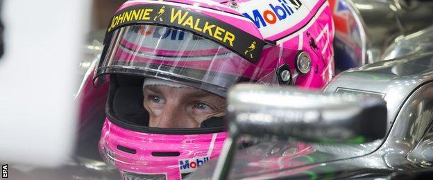 Jenson Button at the Brazilian Grand Prix