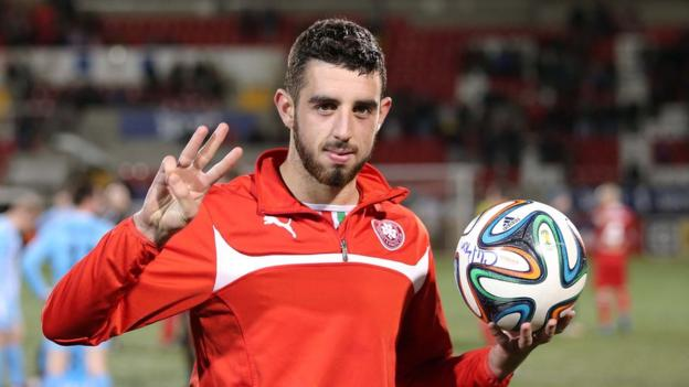 Joe Gormley scored a hat-trick as champions Cliftonville overcame Warrenpoint Town at Solitude
