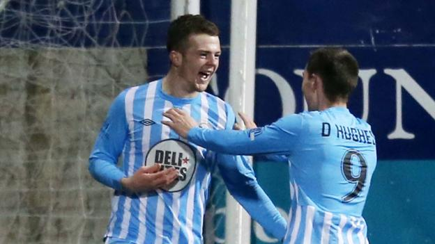 On-loan teenager Ciaran O'Connor put Warrenpoint Town into the lead against Cliftonville