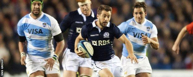 Greig Laidlaw played a key role in two of Scotland's tries and kicked well