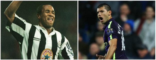 Les Ferdinand and Sergio Aguero