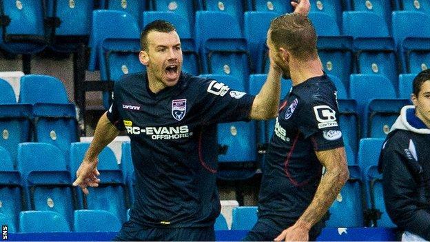 Paul Quinn celebrates scoring County's third