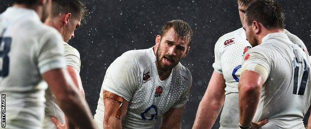 Chris Robshaw and England team