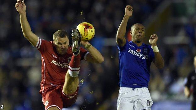 Ben Turner in action against Birmingham City