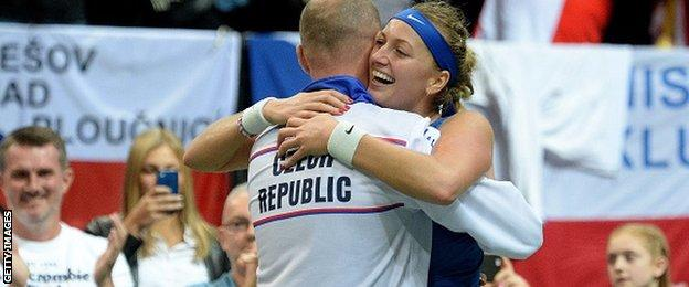 Petra Kvitova, who clinched victory for the Czech Republic