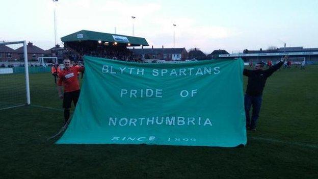 Blyth fans celebrate