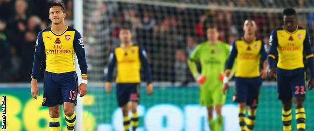 Arsenal dejected