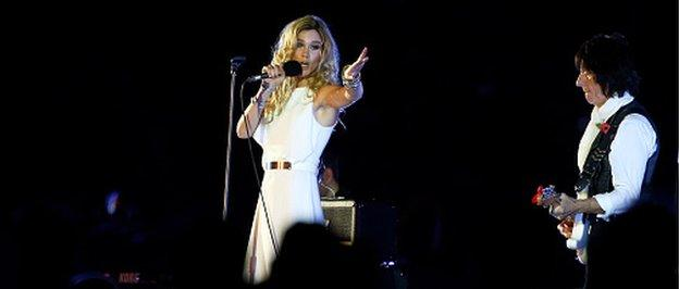 Joss Stone and Jeff Beck entertain the Wembley crowd