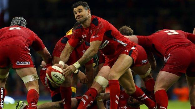 Wales scrum-half Mike Phillips