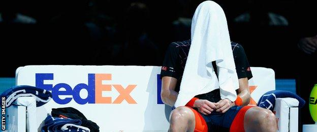 Tomas Berdych in defeat