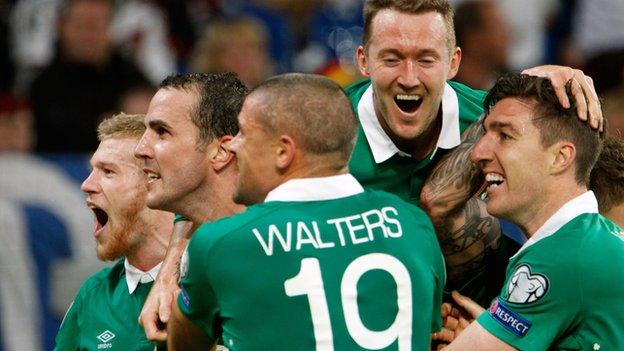 Republic of Ireland are co-leaders in Group D with seven points from three games