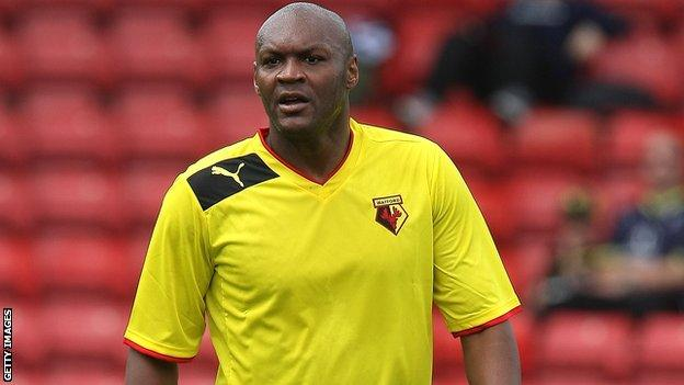 Marcus Gayle retired from playing in 2008 and became manager of Staines in 2012