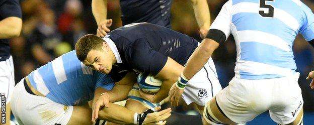 Adam Ashe impressed on his home debut for Scotland