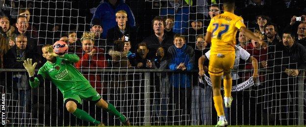 Callum Robinson scores penalty