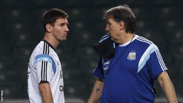 Lionel Messi and Gerardo Martino