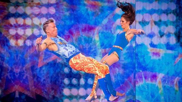 Former Blue Peter star Peter Duncan took to gymnastics for the BBC's Tumble