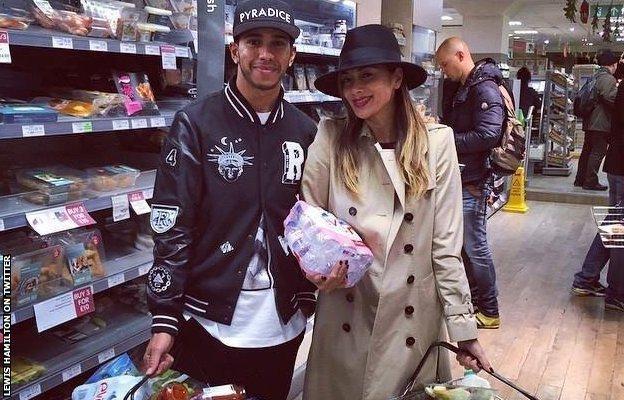 Lewis Hamilton out shopping with girlfriend Nicole Scherzinger
