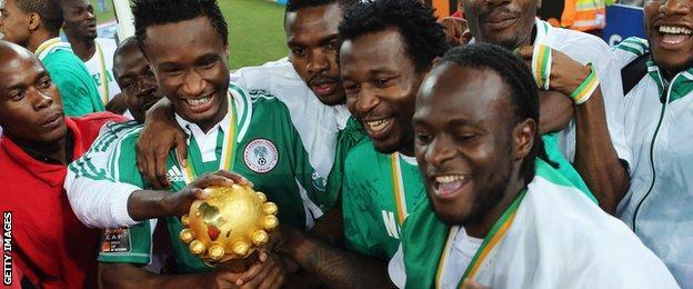 Nigeria celebrate winning Afcon 2013