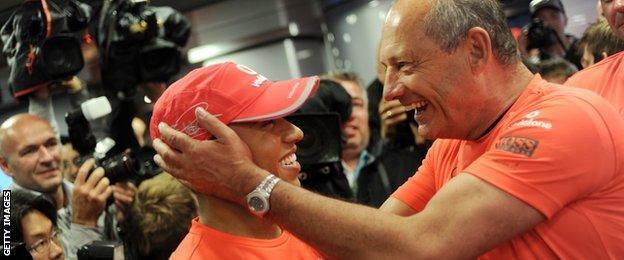 Lewis Hamilton and Ron Dennis