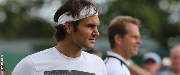 """Roger Federer has described his coach Stefan Edberg as """"more of an inspiration"""""""