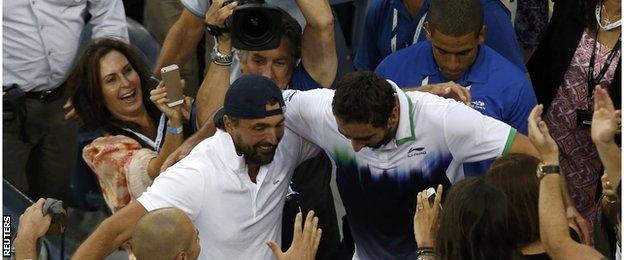 Goran Ivanisevic with Marin Cilic winning the US Open