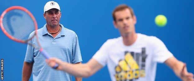 Ivan Lendl's coaches Andy Murray