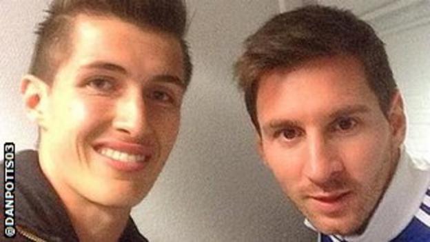 Dan Potts meets Lionel Messi