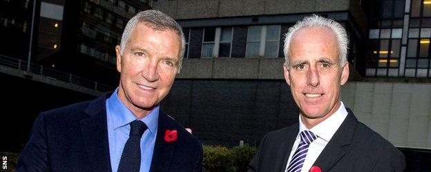 Former Scotland midfielder Graeme Souness and former Republic of Ireland defender Mick McCarthy