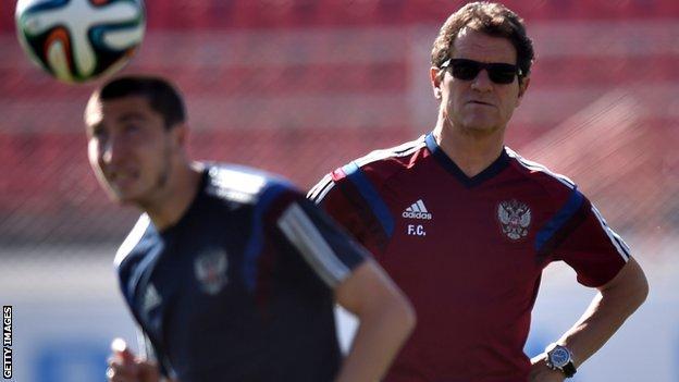 Russia coach Fabio Capello