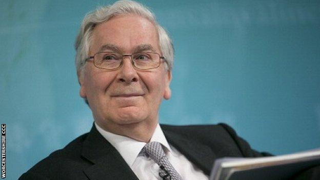 Lord King, Worcestershire's new president elect