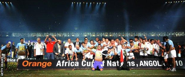 Angola hosted the Africa Cup of Nations in 2010