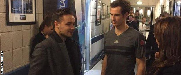 Great to meet you @Real_Liam_Payne thanks for your support tonight and make sure you keep working on that serve!