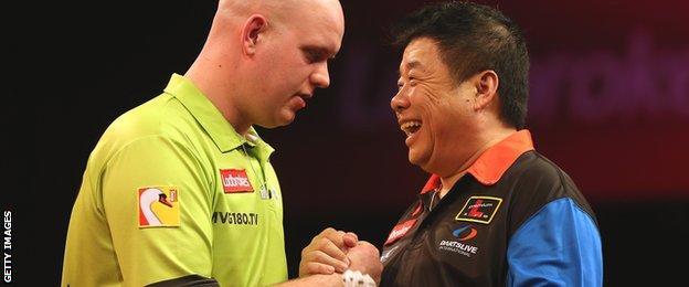 Michael van Gerwen and Paul Lim