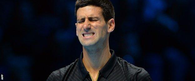 Wawrinka broke Djokovic in the first game