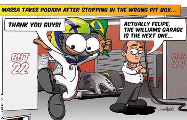 Felipe Massa cartoon