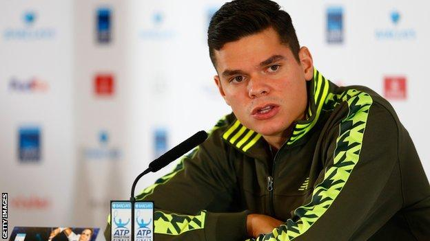 Milos Raonic withdrawing from the O2 World Tour Finals