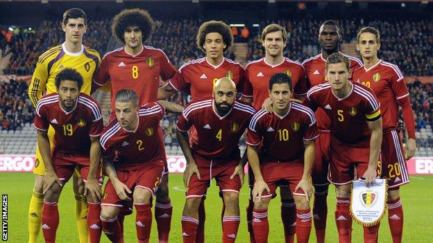 Belgium team that played Iceland