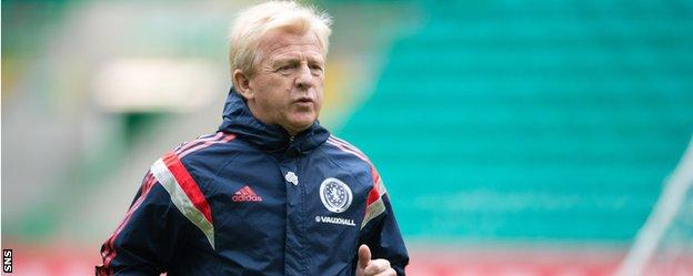 Scotland manager Gordon Strachan at Celtic Park