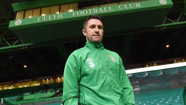 Republic of Ireland captain Robbie Keane