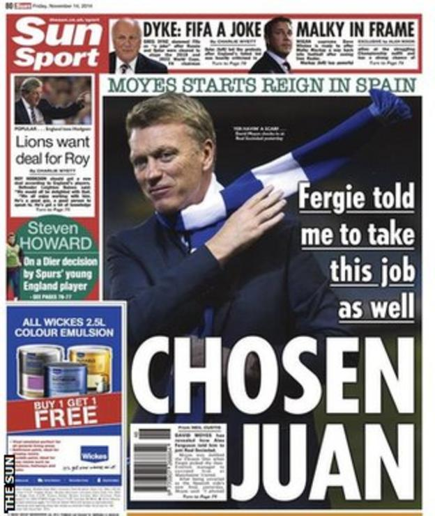 The back page of Friday's Sun