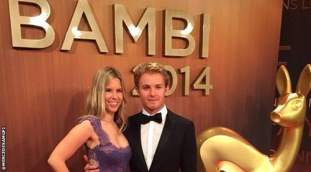 Nico Rosberg at the Bambi Awards