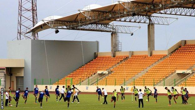 Malabo stadium in Equatorial Guinbea