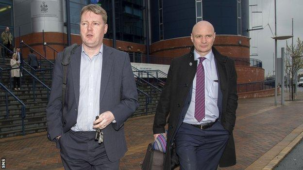 Aberdeen chief executive Duncan Fraser and Dundee United chairman Stephen Thompson