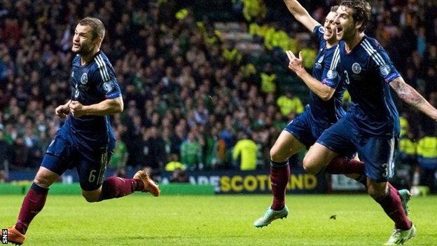 Shaun Maloney (left) gave Scotland victory