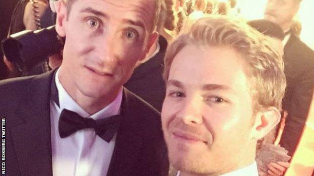 Miroslav Klose and Nico Rosberg