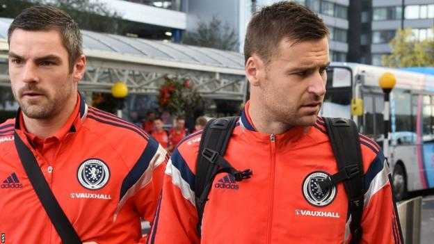Scotland goalkeepers Matt Gilks and David Marshall