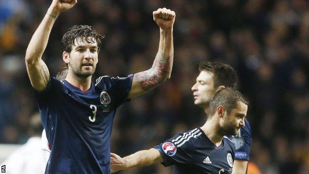 Charlie Mulgrew (left) helped Scotland defeat Republic of Ireland