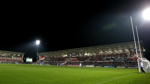 Ulster's rugby ground was the setting for the Gaelic football match Anto Finnegan organised to raise money for the Motor Neurone Disease Association